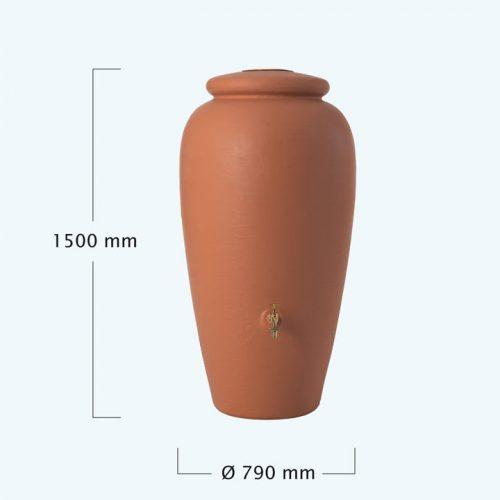Amfóra esovizgyujto tartaly 300 l, terrakotta
