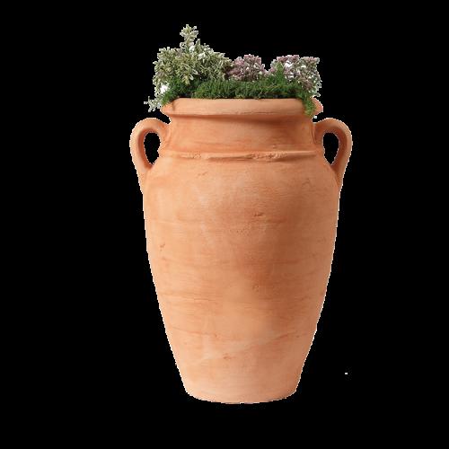 ANTIK-AMFORA viragulteto, terrakotta