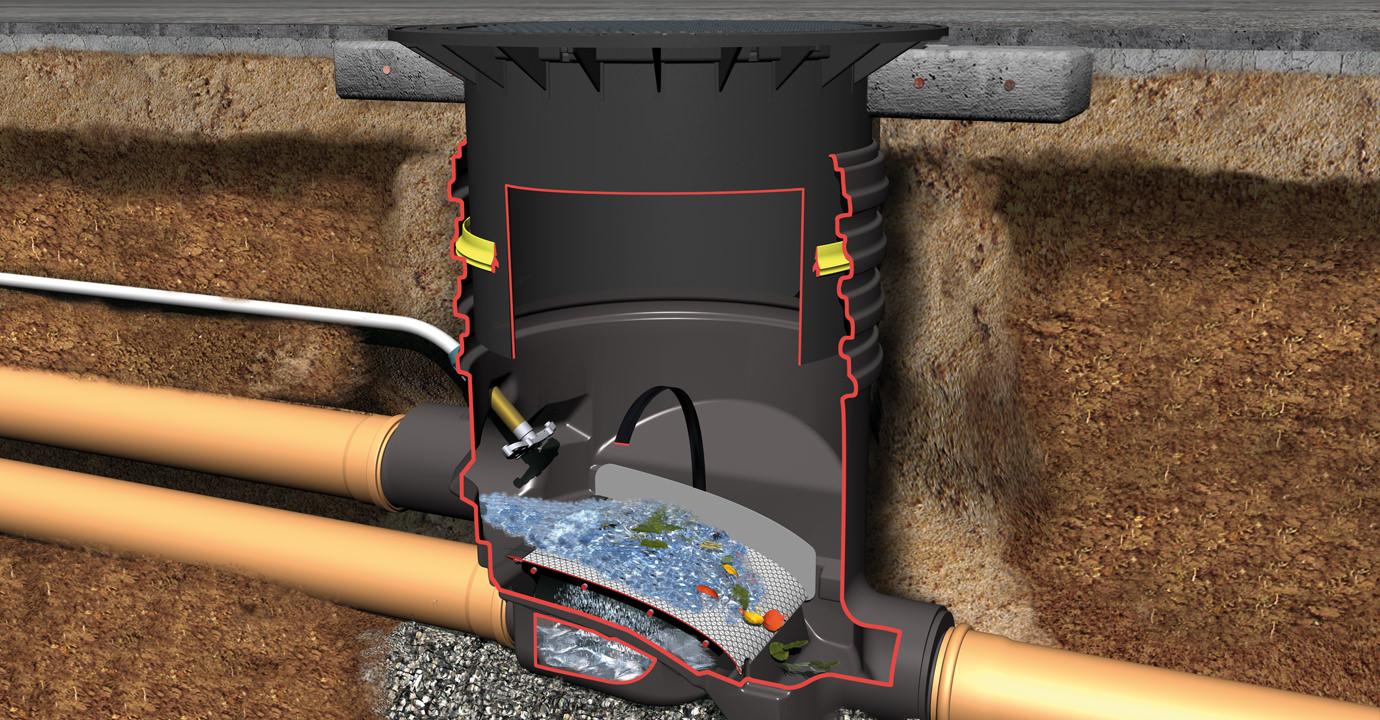 OPTIMAX-FILTER földbe építendő ipari esővízszűrő, lépésálló