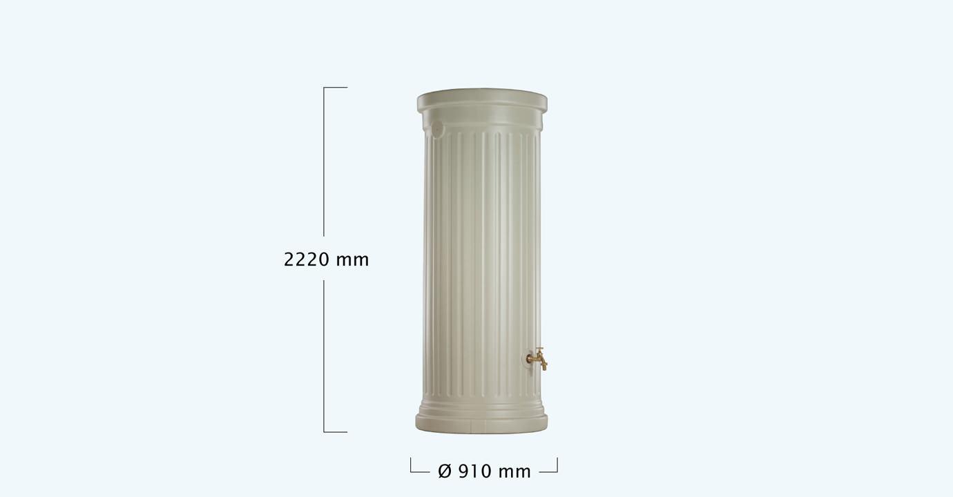 OSZLOPOS esővízgyűjtő tartály 1000 l, homokszín