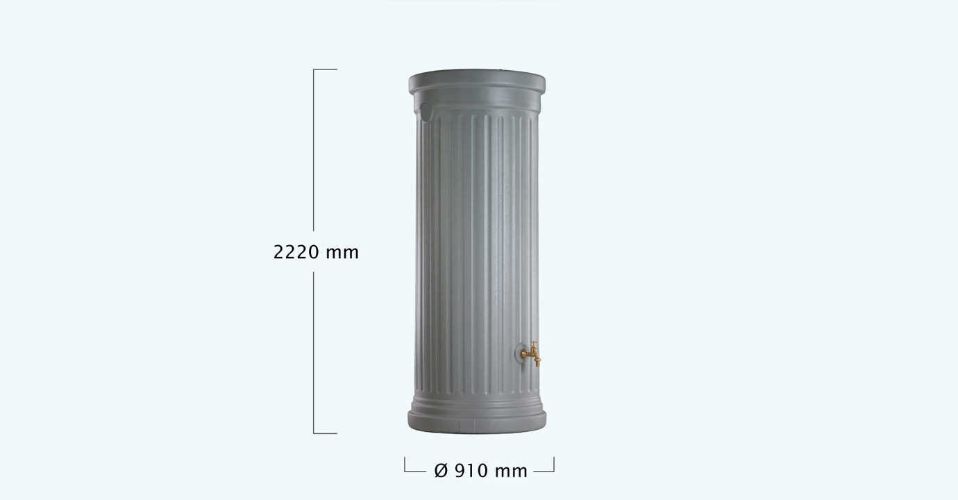 OSZLOPOS esővízgyűjtő tartály 1000 l, szürke