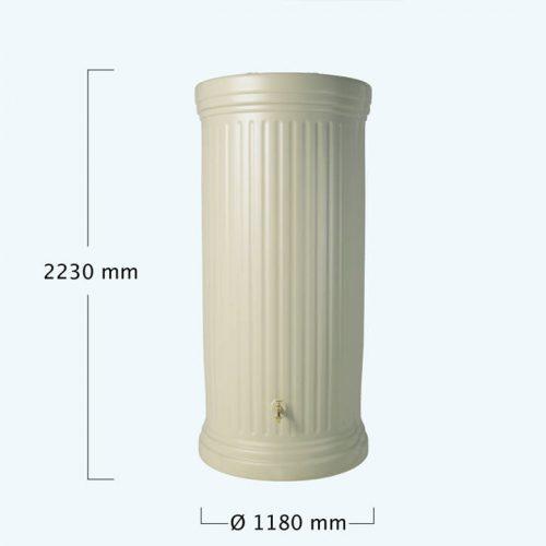 OSZLOPOS esovizgyujto tartaly 2000 l, homokszin