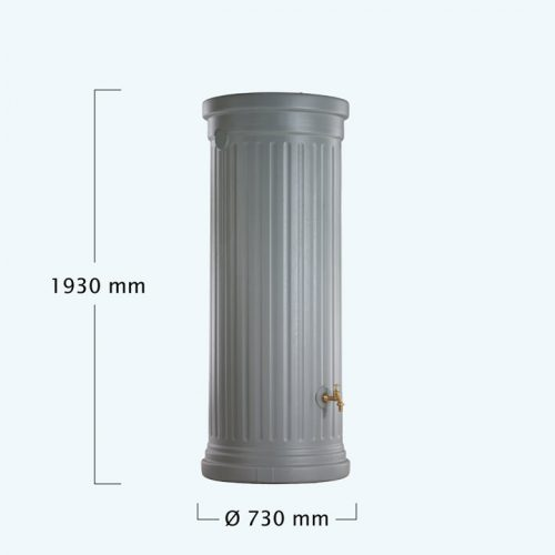OSZLOPOS esovizgyujto tartaly 500 l, szurke