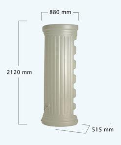 OSZLOPOS esovizgyujto falitartaly 550 l, homokszin