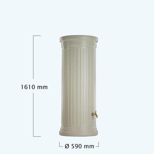 OSZLOPOS esovizgyujto tartaly 330 l, homokszin