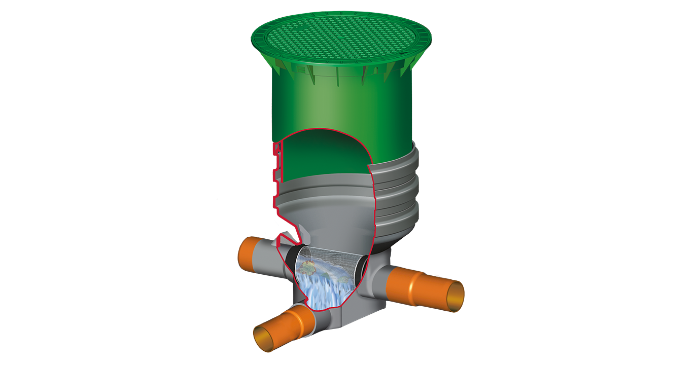 SUPRA földbe építendő esővízszűrő, lépésálló