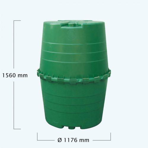 TOP esővízgyűjtő tartály 1300 l