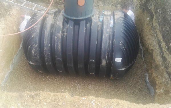CARAT XL esővízgyűjtő tartály beépítése